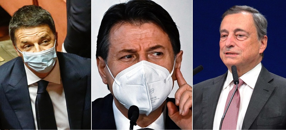 draghi conte renzi mes recovery plan